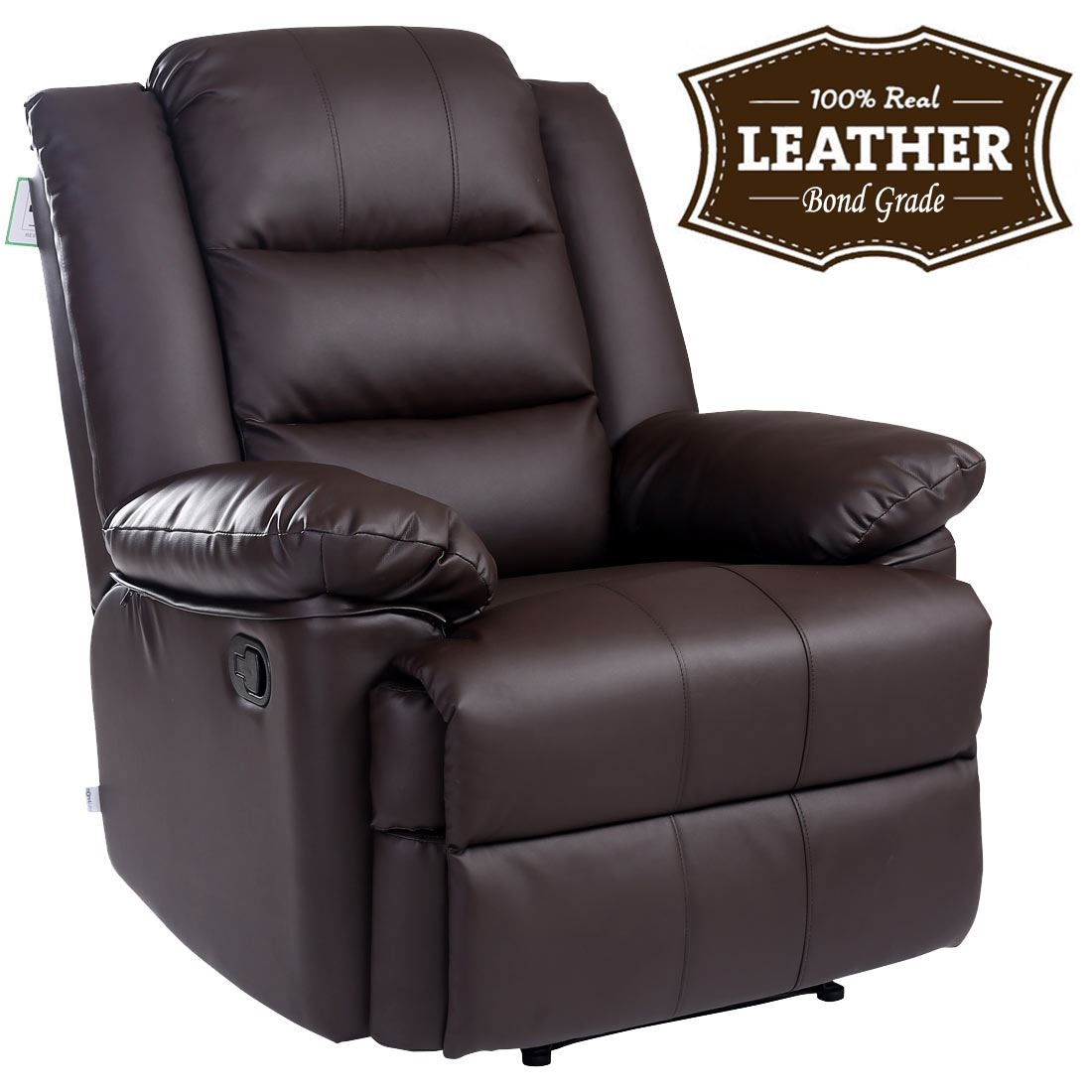 Loxley Leather Recliner Armchair Sofa Home Lounge Chair Reclining In Gaming Sofa Chairs (Image 10 of 15)