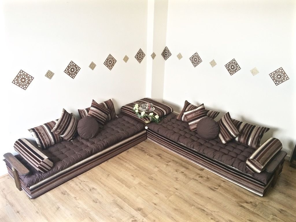 Luxurious Moroccan Floor Cushion Sofa Bed Double Futon Corner With Moroccan Floor Seating Furniture (Image 9 of 15)