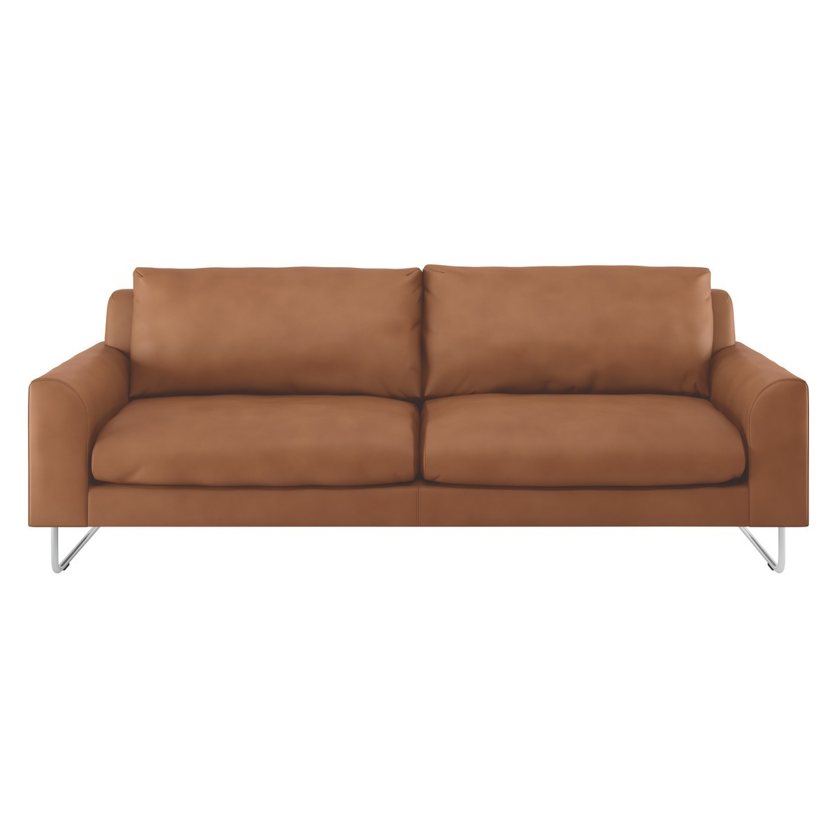Lyle Tan Premium Leather 3 Seater Sofa Buy Now At Habitat Uk With Three Seater Sofas (Image 12 of 15)