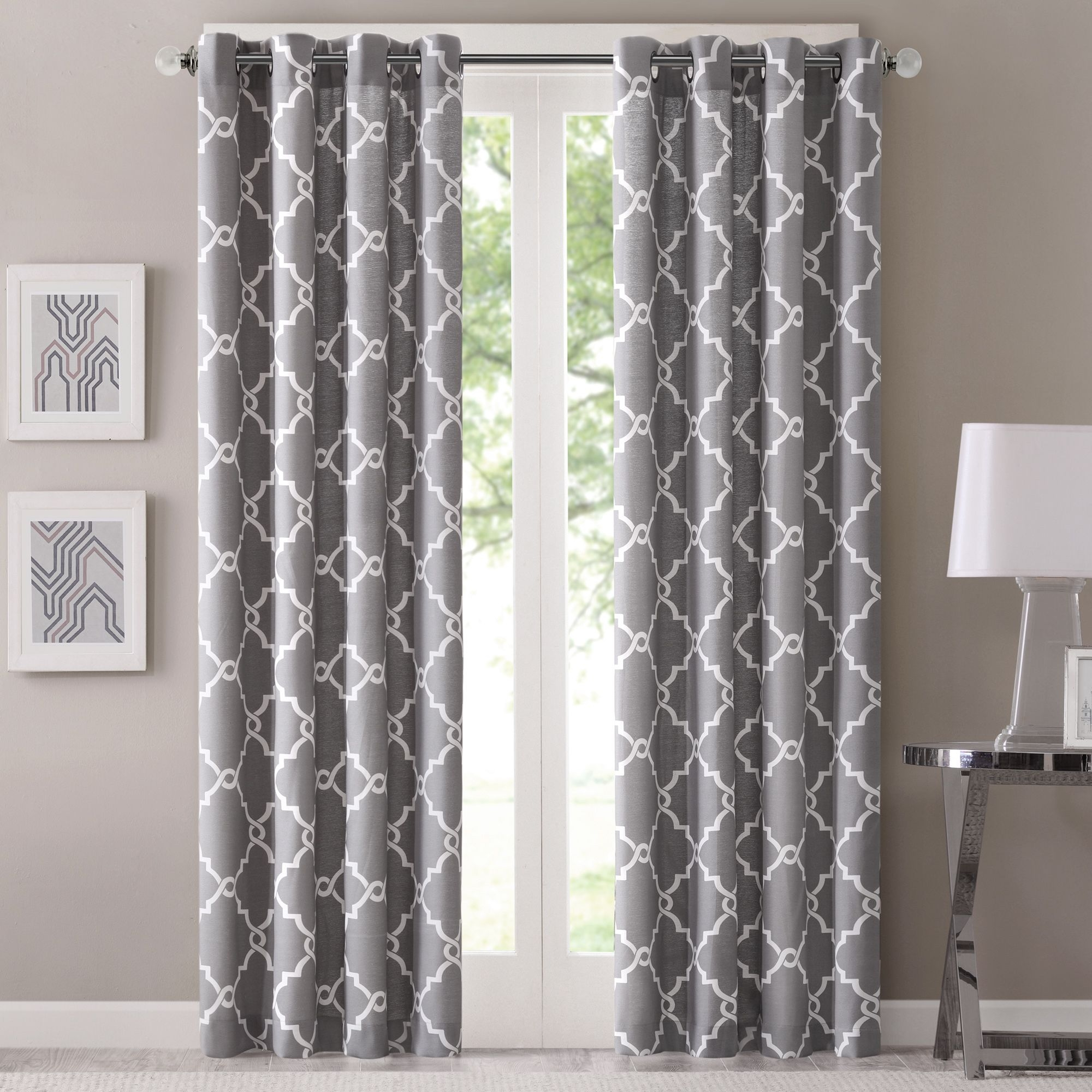 Madison Park Westmont Geometric Pattern Curtain Panel Single Regarding Pattern Curtain Panels (Image 16 of 25)