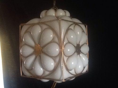 Magnificent Best Milk Glass Light Fixtures For Vintage Murano Hand Blown Milk Glass Pendant Light Fixture Brass (View 17 of 25)