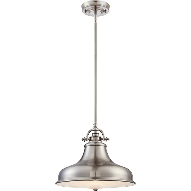 Magnificent Best Pendant Lighting Brushed Nickel With Regard To Quoizel Er1814bn Emery Vintage Brushed Nickel Finish 135 Wide (Image 19 of 25)