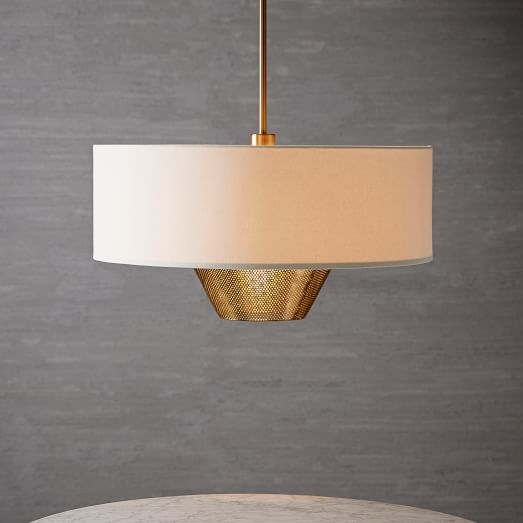Magnificent Best West Elm Drum Lights Intended For Mid Century Pendant West Elm (Image 20 of 25)