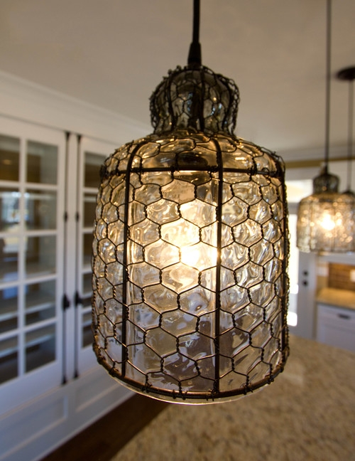 Magnificent Brand New Chicken Wire Pendant Lights Pertaining To Chicken Wire Pendant Light Campernel Designs (Image 18 of 25)