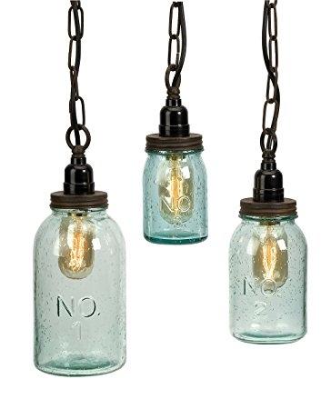 Magnificent Brand New Mason Jar Pendant Lamps With Amazon Imax 87617 3 Lexington Mason Jar Pendant Lights Set (Image 17 of 25)