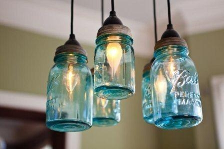 Magnificent Brand New Mason Jar Pendant Lights Throughout Mason Jar Pendant Lights Design (Image 20 of 25)