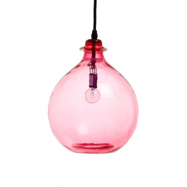 Magnificent Common Glass Jug Pendants For Jug Pendant Pink (Image 16 of 25)