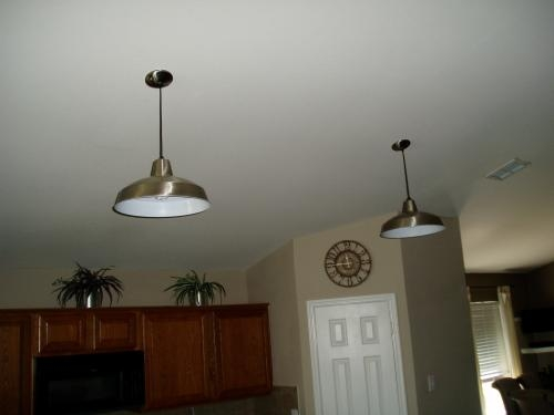 Magnificent Common Hampton Bay Pendants Intended For Hampton Bay 1 Light Brushed Nickel Warehouse Pendant Af 1032r At (Image 17 of 25)