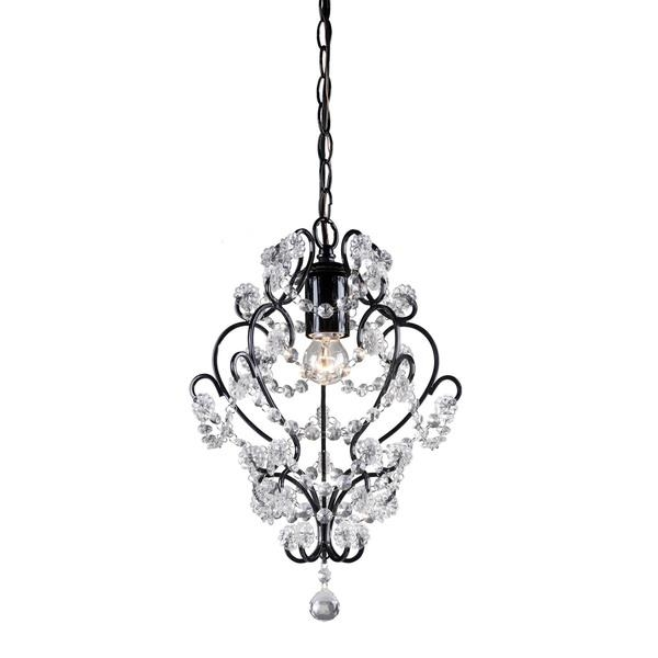 Magnificent Deluxe Black Pendant Light With Crystals For Lighting Stellan Metal Crystal Pendant (View 17 of 25)