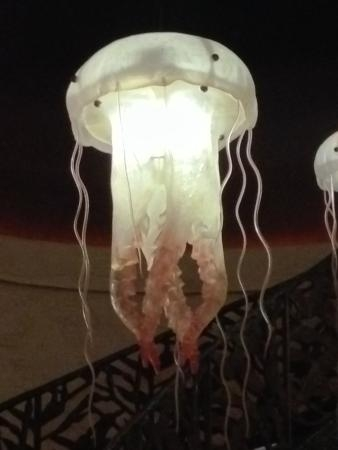 Magnificent Deluxe Jellyfish Pendant Lights Intended For Jellyfish Pendant Lights Picture Of Farallon San Francisco (Image 18 of 25)