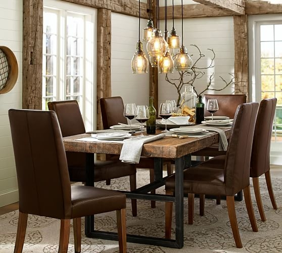 Magnificent Deluxe Paxton Pendant Lights Regarding Paxton Glass 8 Light Pendant Pottery Barn (View 25 of 25)