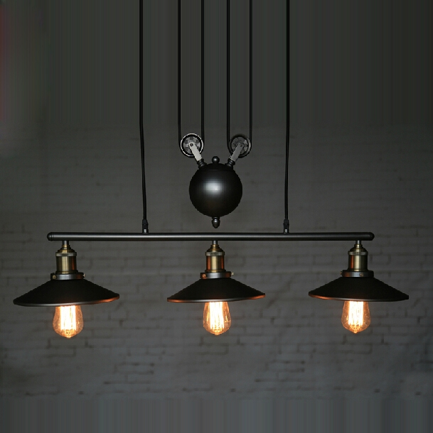 Magnificent Deluxe Pulley Pendant Lights Pertaining To Aliexpress Buy Rh Loft Vintage Iron Industrial Led American (Image 16 of 25)