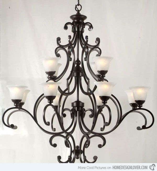 Magnificent Elite Wrought Iron Lights For Best 25 Wrought Iron Chandeliers Ideas On Pinterest Wrought (View 2 of 25)
