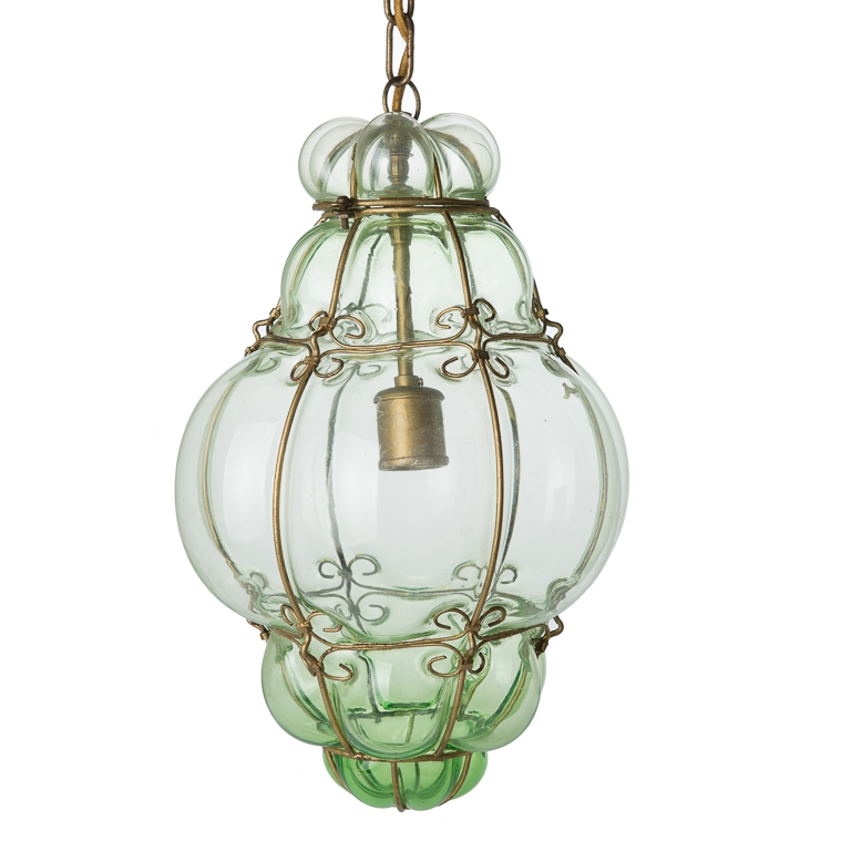 Magnificent Famous Murano Pendant Lights With 507 Antiques Vintage Hand Blown Seguso Murano Glass Cage Pendant (Image 20 of 25)