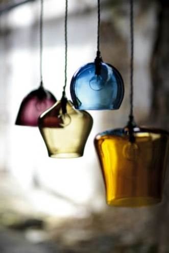 Magnificent Fashionable Coloured Glass Pendant Lights In Blown Glass Pendant Lights Uk Roselawnlutheran (Image 18 of 25)