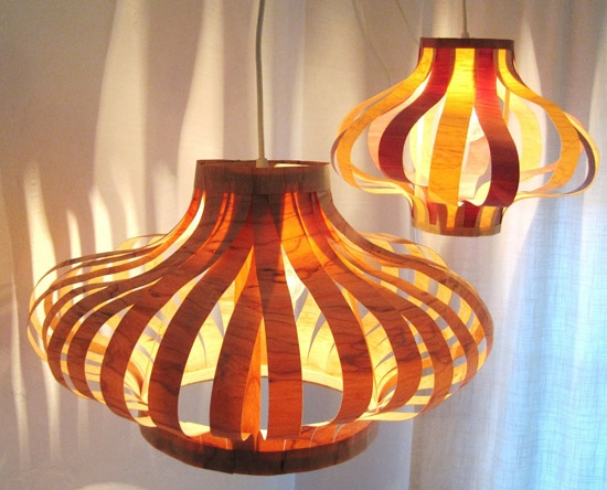 Magnificent Fashionable Wood Veneer Pendant Lights Inside Tutorial Veneer Pendant Lights Poppytalk (View 5 of 25)