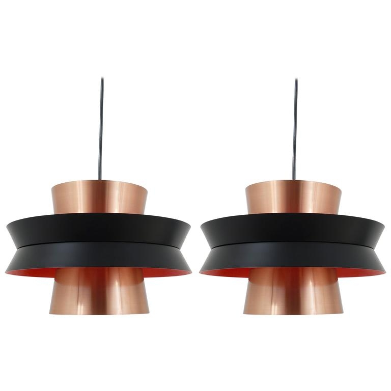 Magnificent Favorite 1960s Pendant Lights With Three Mid Century Copper Pendant Lights Carl Thore For Granhaga (Image 17 of 25)