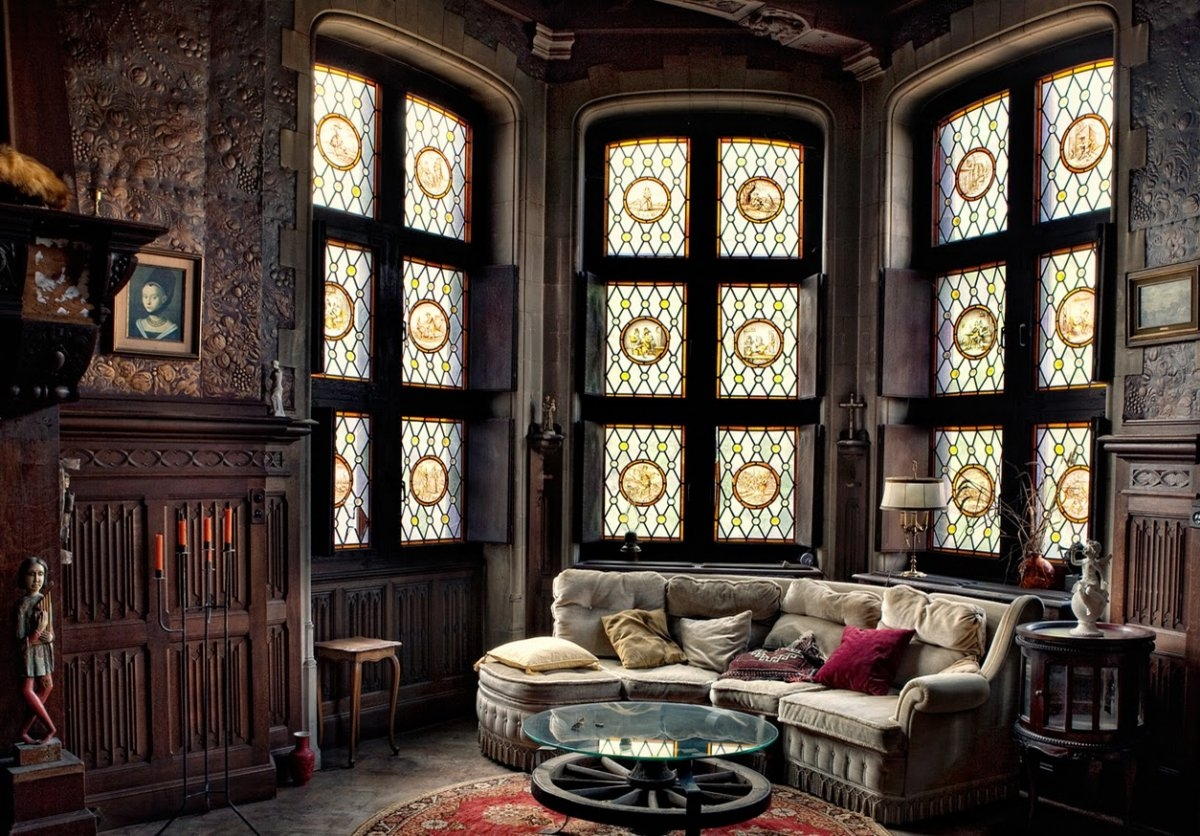 Magnificent Gothic Style Interior Design Beautiful Round Colored For Gothic Sofas (Image 13 of 15)