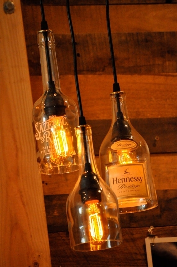 Magnificent High Quality Liquor Bottle Pendant Lights For 255 Best Recycled Glass Images On Pinterest (View 13 of 25)