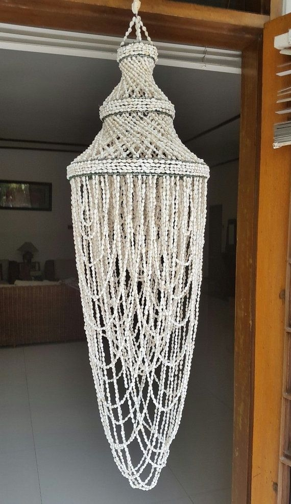 Magnificent High Quality Shell Light Shades Regarding Best 25 Shell Chandelier Ideas On Pinterest Diy Chandelier (View 23 of 25)