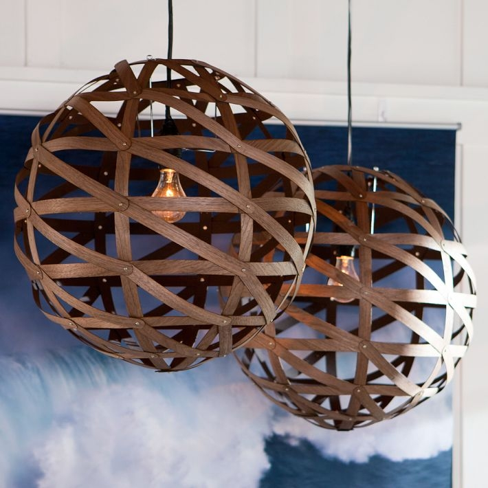 Magnificent High Quality Wood Veneer Pendant Lights Intended For Beautiful Spherical Pendant Made Of Veneer Beautiful S Trendek (View 10 of 25)