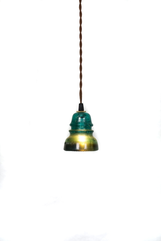 Magnificent Latest Railroad Pendant Lights Pertaining To Vintage Repurposed Railroad Telegraph Insulator Pendant Light (Image 16 of 25)