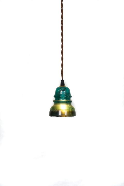 Magnificent Latest Railroad Pendant Lights Pertaining To Vintage Repurposed Railroad Telegraph Insulator Pendant Light (View 3 of 25)