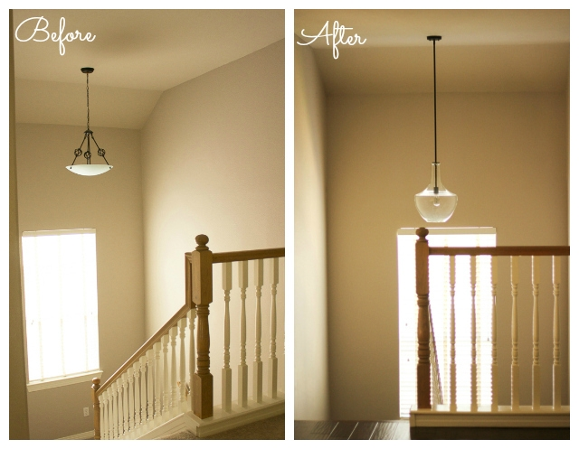 Magnificent Preferred Stairwell Lighting Pendants Regarding Our Updated Lighting Design Improvised (Image 17 of 25)