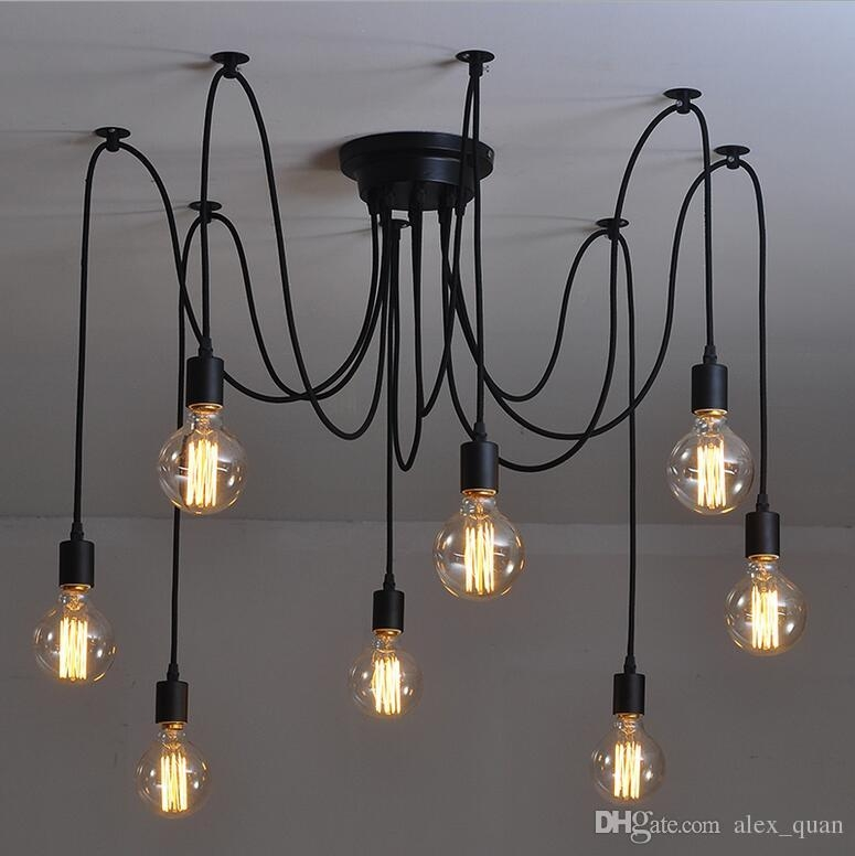 Magnificent Series Of Retro Pendant Lights Pertaining To Vintage Pendant Lamps Rh Loft Retro Edison Bulbs Hanging Lights (Image 20 of 25)