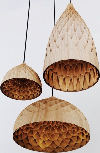 Magnificent Series Of Wood Veneer Lighting Pendants Intended For 727 Best Pendant Lights Images On Pinterest (View 14 of 25)