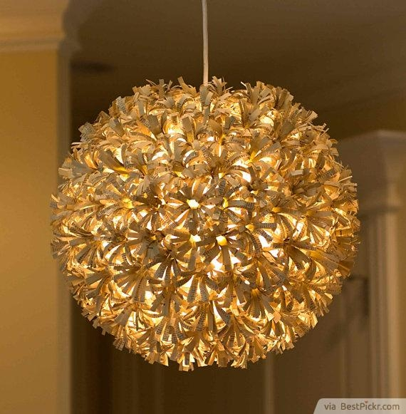 Magnificent Top Paper Pendant Lamps Inside Custom Recycled Paper Pendant Globe Light Httpbestpickr (View 12 of 25)