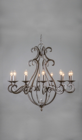 Magnificent Top Wrought Iron Light Fittings Pertaining To New Mexico Wrought Iron Chandelier 12 Light Lighting (View 22 of 25)