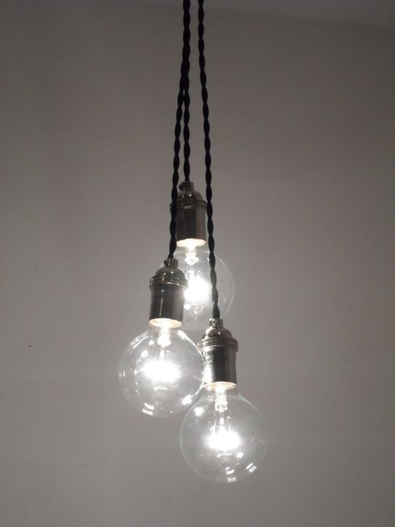 Magnificent Trendy Bare Bulb Cluster Pendants Within 3 Pendant Ceiling Fixture Pendant Lighting Chandelier Modern Globe (Image 16 of 25)