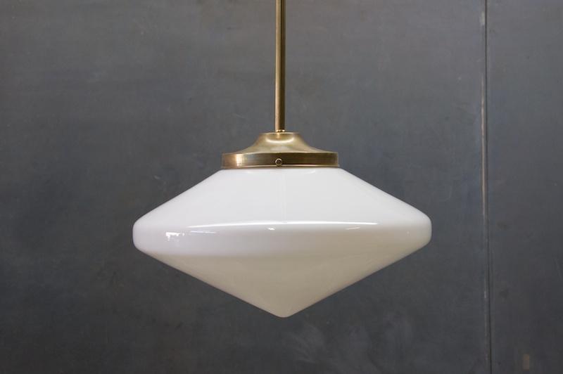 Magnificent Unique Milk Glass Pendants Within Vintage Milk Glass Diamond Pendants Factory (View 11 of 25)