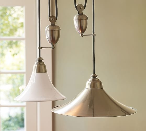 Magnificent Variety Of Adjustable Pulley Pendant Lights For Porter Pendant Pottery Barn (Image 18 of 25)