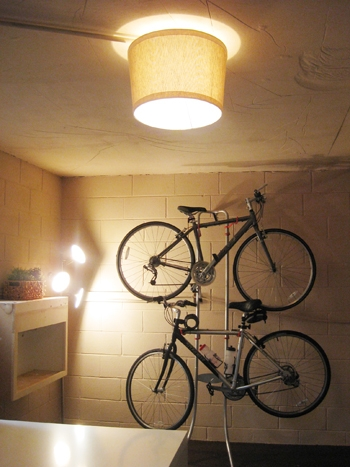 Magnificent Variety Of Bare Bulb Hanging Light Fixtures With Basement Update Hanging Our Bikes And Adding A Shade Young (Image 20 of 25)