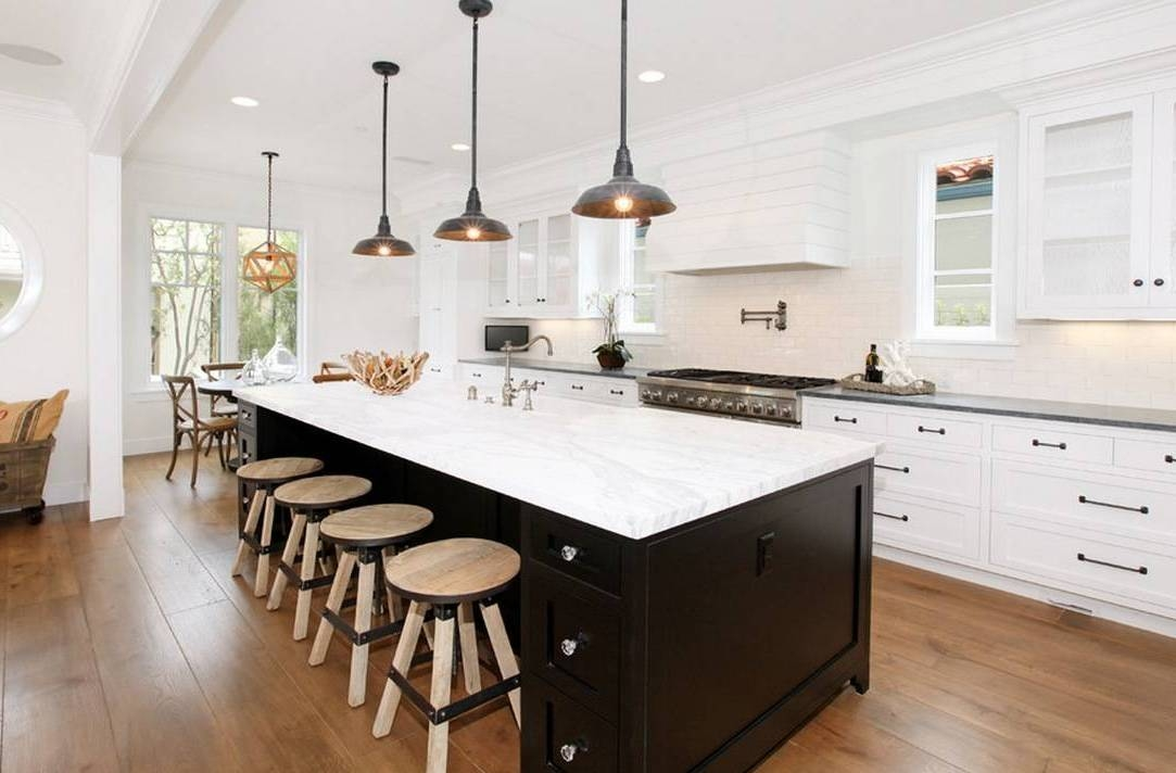 Magnificent Variety Of Kitchen Island Light Pendants With Regard To Stunning Black Pendant Lights Kitchen Island Lighting Fixtures (Image 20 of 25)