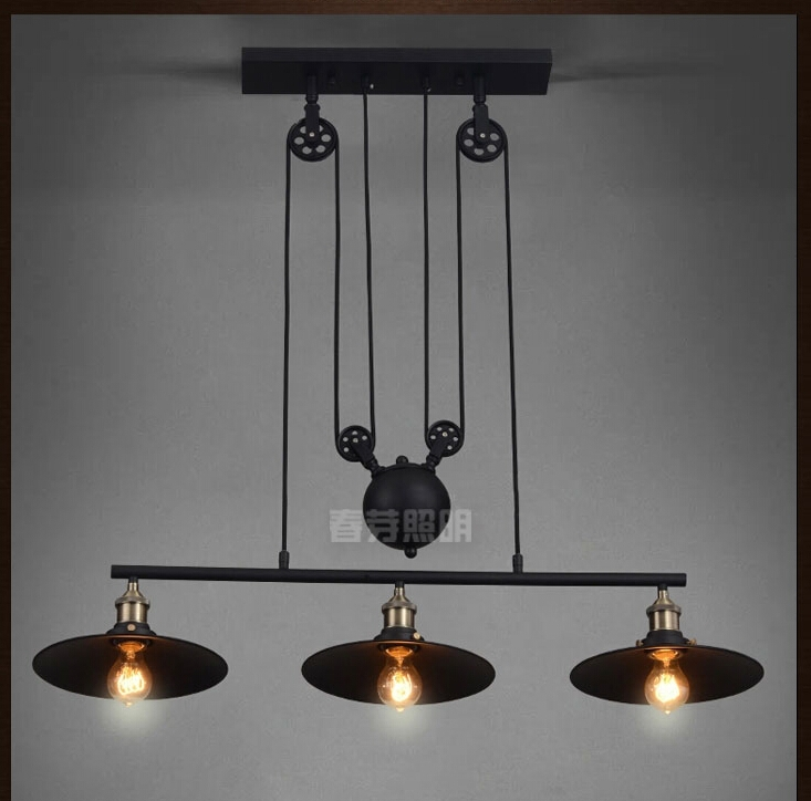 Magnificent Well Known Adjustable Pulley Pendant Lights Inside Compare Prices On Adjustable Pulley Pendant Lights Online (Image 19 of 25)
