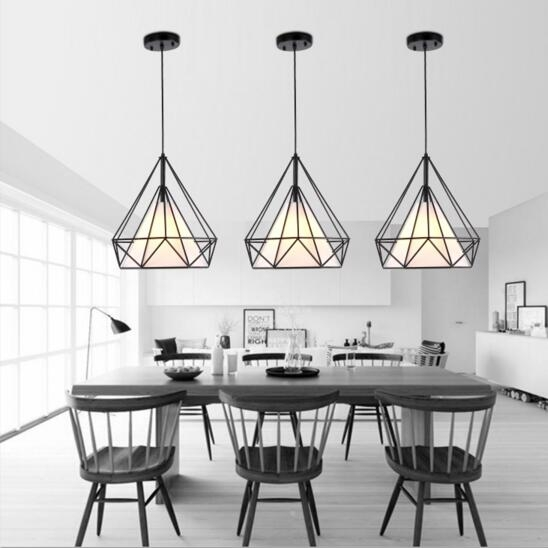 Magnificent Wellknown Birdcage Pendant Lights Pertaining To Aliexpress Buy Black Birdcage Pendant Lamp Modern Iron (Image 22 of 25)