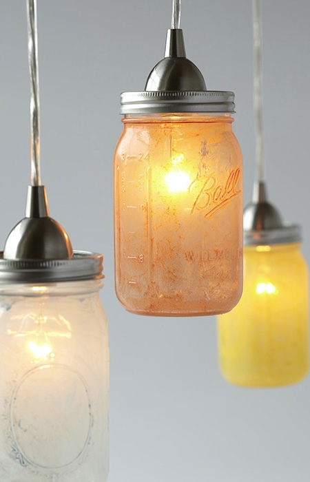 Magnificent Wellknown Mason Jar Pendant Lamps With Regard To Glass Mason Jar Pendant Lights (Photo 19 of 25)