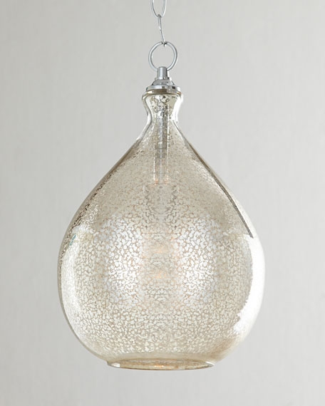 Magnificent Wellknown Mercury Glass Pendant Lights Within Glass Pendant Lighting Horchow (Image 17 of 25)