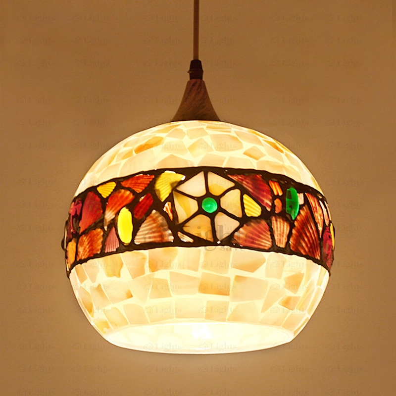 Magnificent Well Known Shell Light Shades With Regard To Pendant Light Shade Shell Shade (Image 22 of 25)