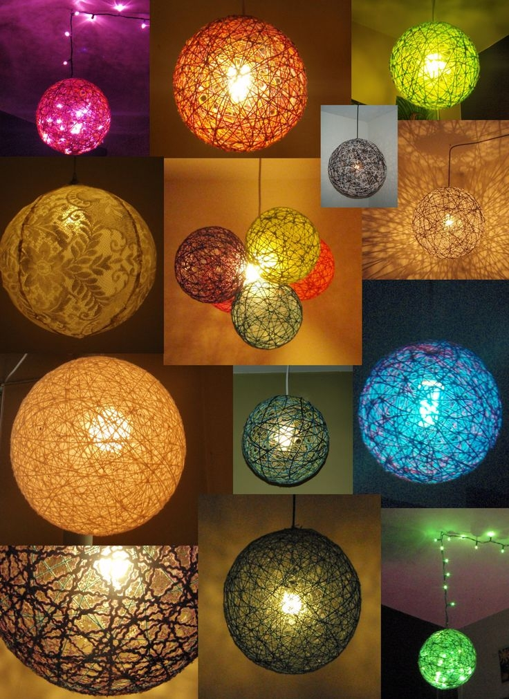 Magnificent Wellliked Diy Yarn Pendant Lights Intended For 668 Best Home 14lamps N Lights Images On Pinterest (Image 19 of 25)