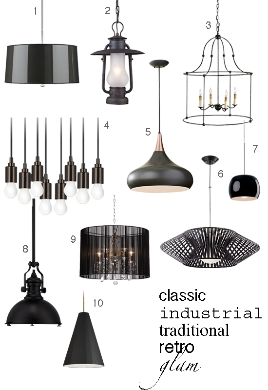 Magnificent Wellliked Lamps Plus Pendants With Regard To 6 Ways To Work Black Pendant Lights Into Your Kitchen Decor Home (Image 21 of 25)