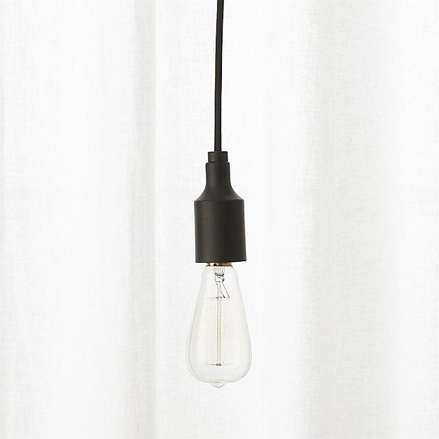 Magnificent Widely Used Cb2 Pendant Lights Inside Utility Matte Black Single Pendant Light Cb (Image 22 of 25)