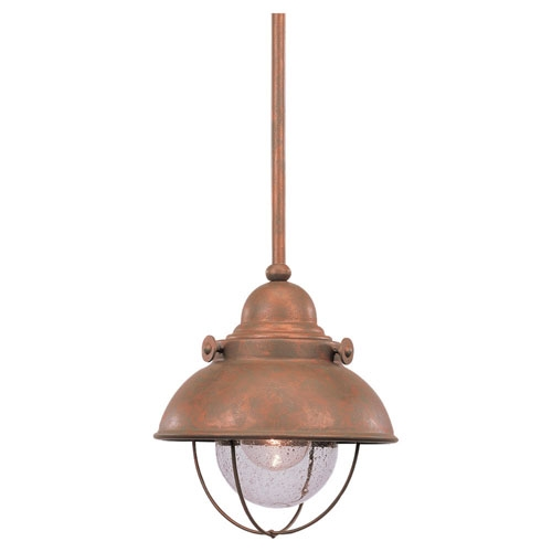 Magnificent Widely Used Copper Mini Pendant Lights In Copper Outdoor Hanging Lighting Bellacor (Image 18 of 25)