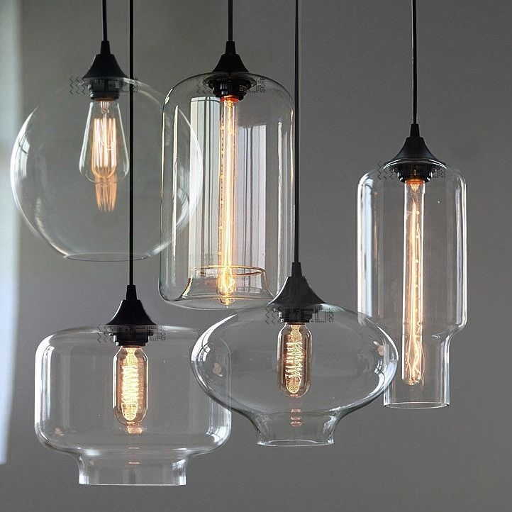 Magnificent Widely Used Glass Pendant Ceiling Lights For New Modern Retro Glass Pendant Lamps Kitchen Bar Cafe Hanging (Image 18 of 25)