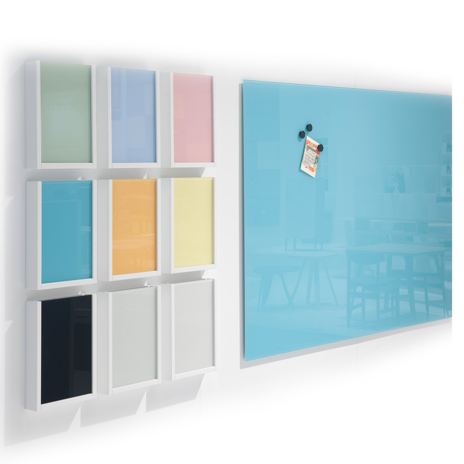 Magvision Glass Writing Boards Abstracta Glass Boards Apres Regarding Coloured Glass Shelves (Image 10 of 15)