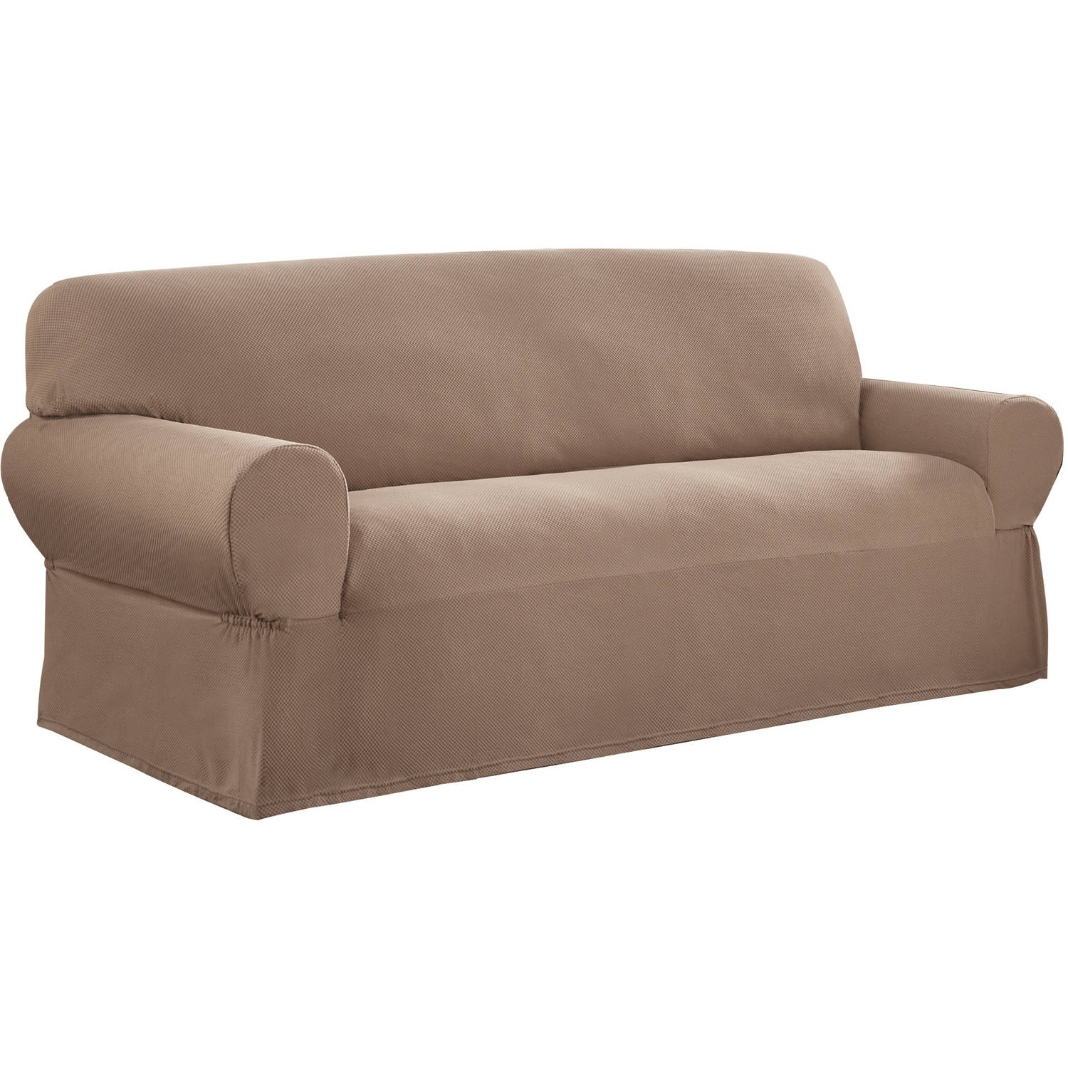 Mainstays 1 Piece Stretch Fabric Sofa Slipcover Walmart With Covers For Sofas And Chairs (View 9 of 15)