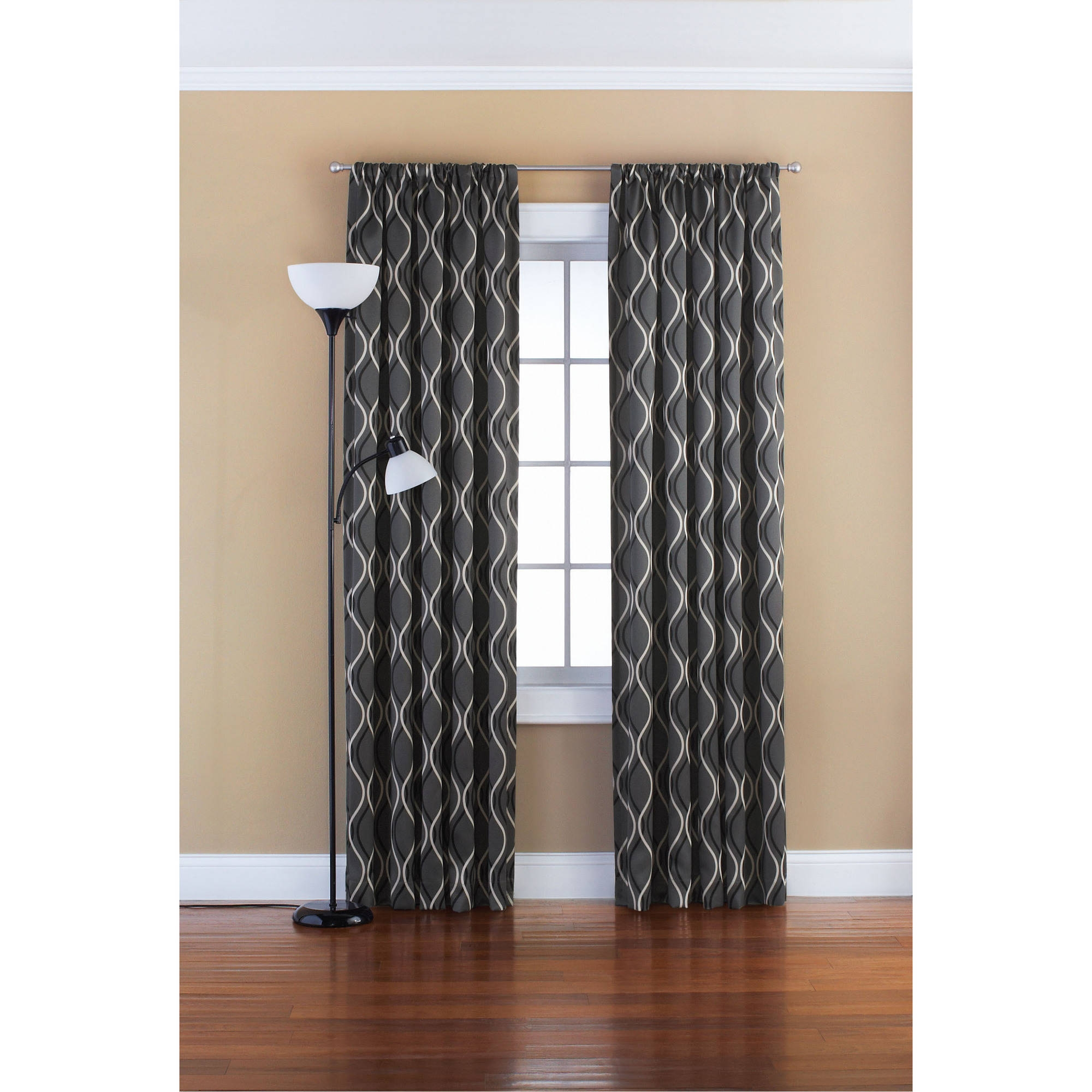 Mainstays Blackout Solid Woven Window Curtains Set Of 2 Walmart Regarding 63 Inches Long Curtains (Image 20 of 25)